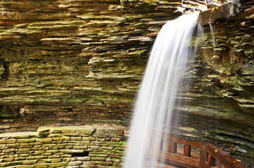 Cave waterfall at Watkins Glen state park