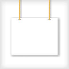 White Handing Sign