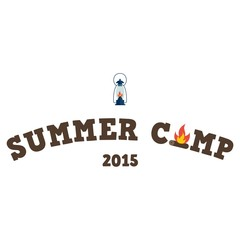 Summer camp in flat design