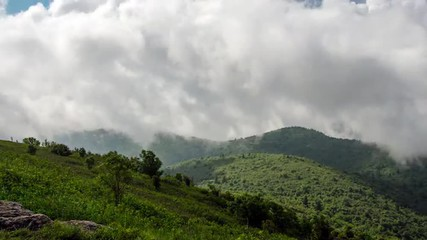Time lapse of clouds passing over the Blue Ridge Parkway