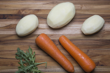 Whole Potatoes and Carrots