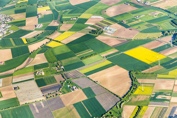aerial of farmland near Mainz