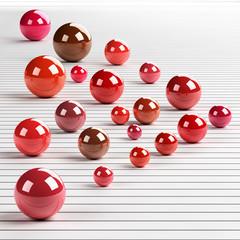 3d reflective spheres