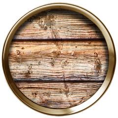 cerchio metallico e legno inserito