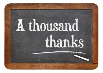 A thousand thanks on blackboard