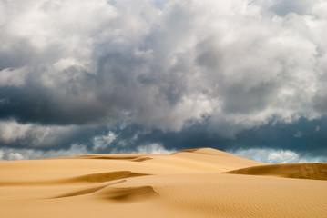 Orange soft sand dunes