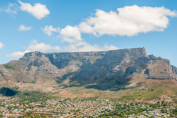 View of Cape Town and Table Mountain