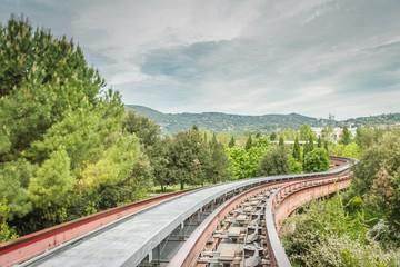 subway tracks between nature in Perugia, Umbria