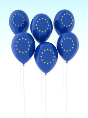 europe flag balloon
