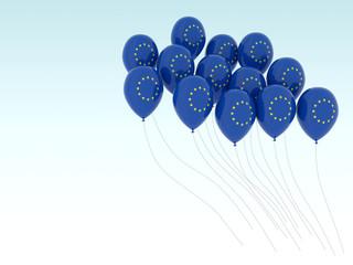 europe flag balloons