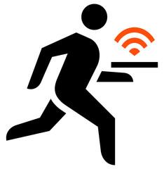 Free WiFi in restaurant icon