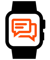 Messaging on smartwatch icon