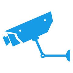 Icono aislado camara vigilancia azul