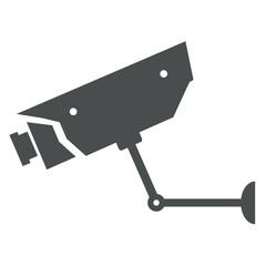 Icono aislado camara vigilancia gris
