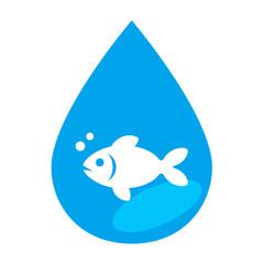 Icono pez en gota de agua