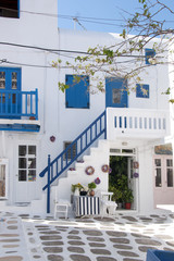Traditional houses in mykonos island