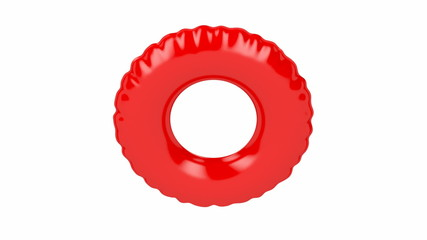 Swim ring spin on white background
