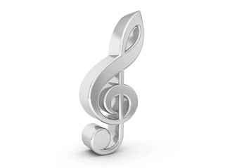 silver music note symbol