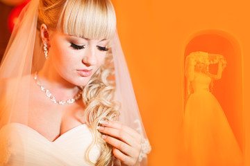 Beauty young bride