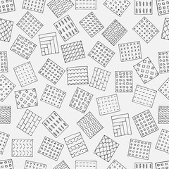 black and white geometric seamless pattern of rectangles