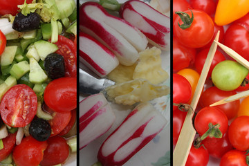 Radis beurre salé - Tomates cerises - Olives