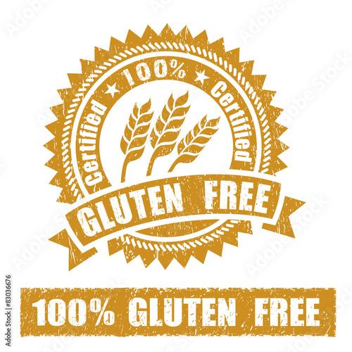 Gluten Free Rubber Stamp © arrow
