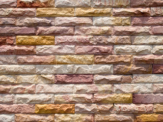 Texture and aged paint brick wall background.