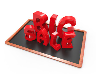 Big sale 3d word concept