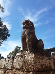 King Lion Stone Statue