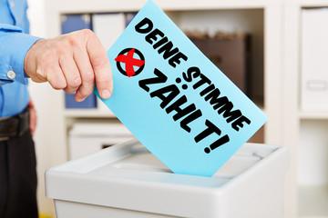 Deine Stimme zählt bei der Wahl!