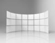 3d white frames in studio
