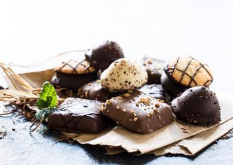 Chocolate tea biscuits