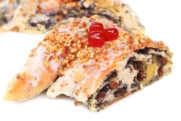 Chocolate pretzel with almond