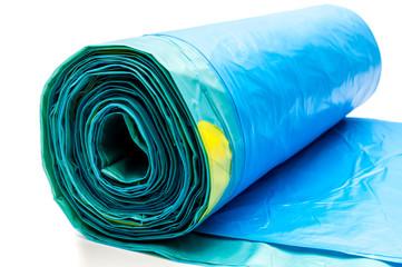 Blauer Müllsack