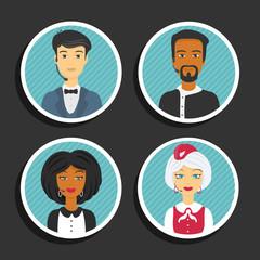 Set of symbols Support service people