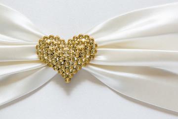 Heart shape diamond on fabric