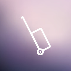 Luggage carrier thin line icon