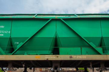 Vagón de un tren de mercancías, transporte ferroviario