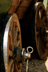 the old wagon wheels