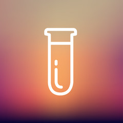 Test tube thin line icon