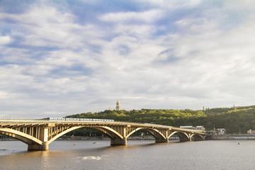 River Dnieper view in spring, Kiev, Ukraine