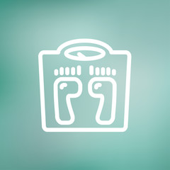 Weighing scale thin line icon