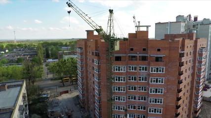 Building social housing neighborhood - aerial survey