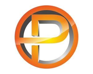 abstract 3D P logo