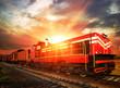 obraz - freight train in t...