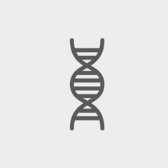 DNA thin line icon