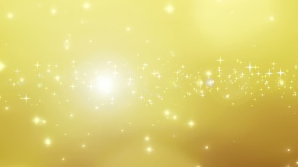 Christmas golden background with particles bokeh and flare