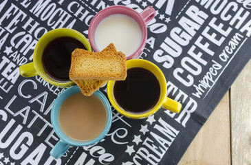 hot drinks with rusk biscuits