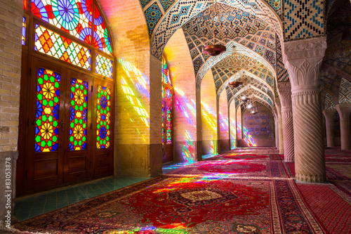 Poster, Tablou Nasir al-Mulk Mosque in Shiraz, Iran