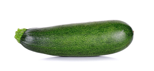 Zucchini courgette isolated on the white background